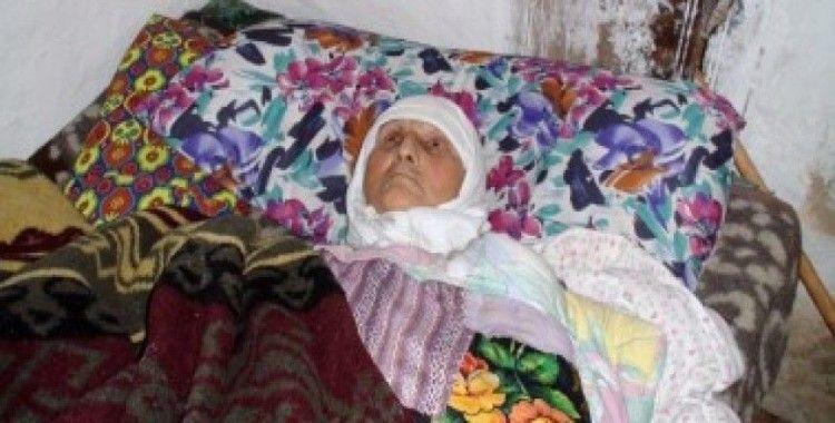 Felçli ve yatalak olan yaşlı kadın ortada kaldı
