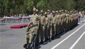 Engelli askerler vatan borcunu ödedi