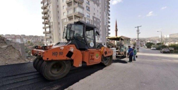 Mamak'ta asfalt çalışmaları devam ediyor