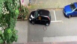 6 dakika boyunca park etmeye çalıştı, başaramadı
