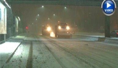 Başkentte yoğun kar etkili oldu