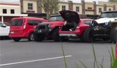 Hatalı park eden adama böyle ders verdiler