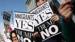 Trump'a başkanlığı döneminin ilk New York ziyaretinde protesto