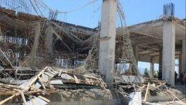 Havalimanı terminal inşaatında göçük, 2 yaralı