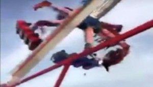 Lunapark'ta korkunç kaza, 1 ölü, 7 yaralı