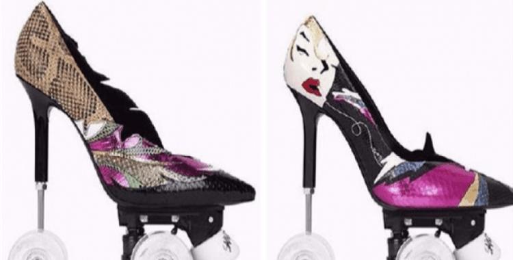 Paten stilettoları ile Saint Laurent