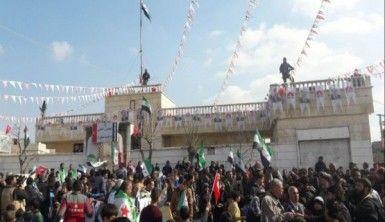 Azez'de Zeytin Dalı Harekatı'na destek mitingi