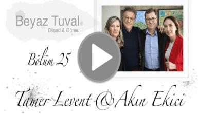 Tamer Levent ve Akın Ekici ile sanat Beyaz Tuval'in 25. bölümünde