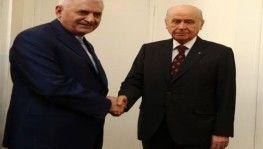 Başbakan Yıldırım Devlet Bahçeli'yi ziyaret etti