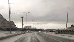 Erciyes'e Mayıs ayında kar yağdı