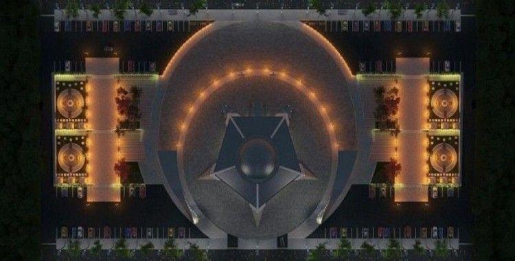 'Ay yıldız' şeklindeki cami Sivas'tan yükseliyor