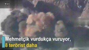 Mehmetçik vurdukça vuruyor, 8 terörist daha