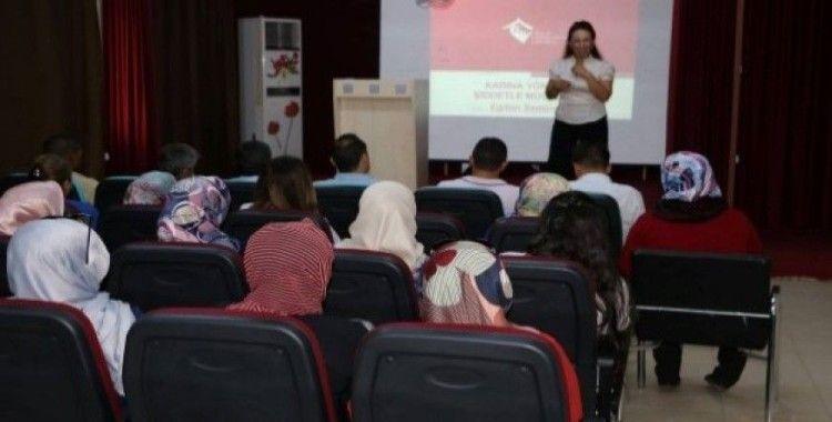 Kadına Yönelik Şiddetle Mücadele Seminerleri devam ediyor