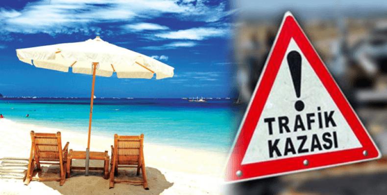 Tatilde trafik kazaları