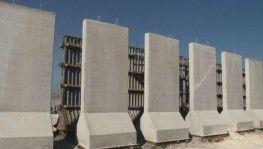 Suriye sınırına konulan beton duvarlar 4.5 ton ağırlığında