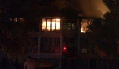 Denizli'de otel yangını