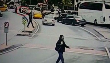 Hamile kadının üzerine motosiklet devrildi