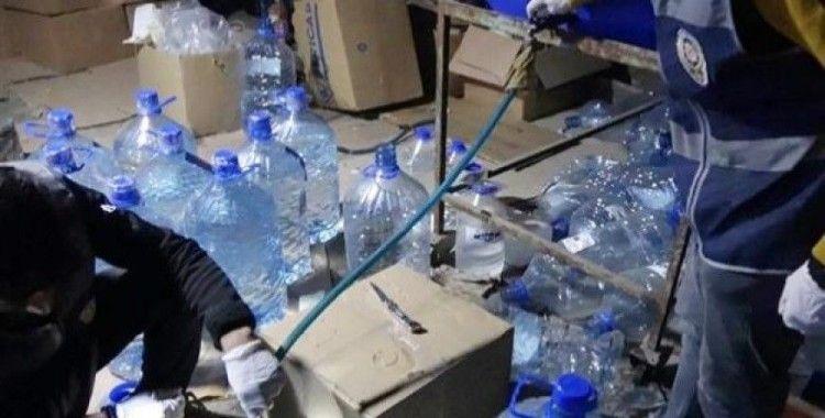 Gaziantep'te bir ambara sahte içki operasyonu