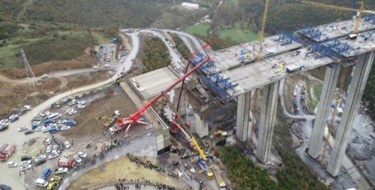 Otoyolda beton bloğun düşmesi kazasıyla ilgili yayın yasağı getirildi