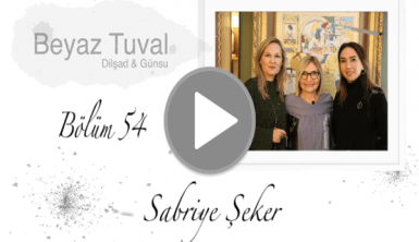 Sabriye Şeker ile sanat Beyaz Tuval'in 54. bölümünde