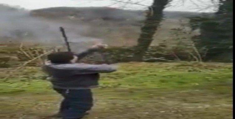 İnanılmaz olayda tüfek adamın elinde patladı