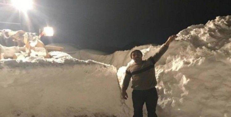 Durankaya'da karla mücadele çalışması