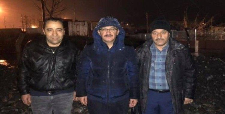 Şehzadeler Belediyesi sabaha kadar görev başındaydı