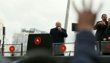 Cumhurbaşkanı Erdoğan Kağıthane'de konuşma yaptı