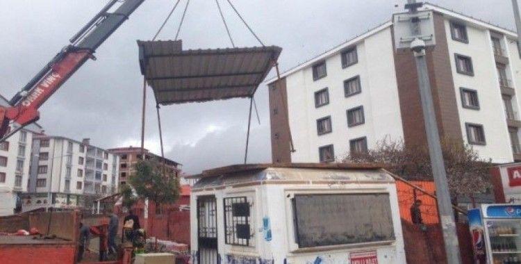 Bingöl'de kaçak yapılara müdahale