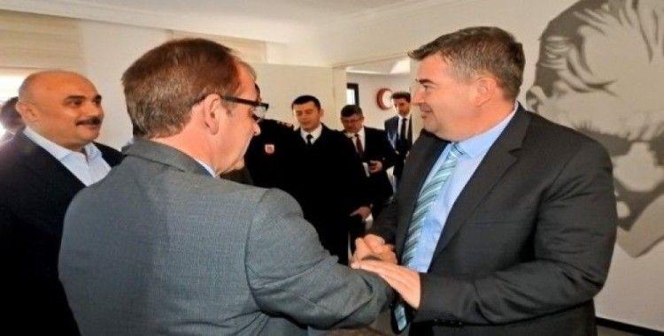 İlçe protokolünden Başkan Oran'a ziyaret