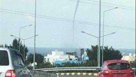KKTC'de hortum ve dolu yağışı