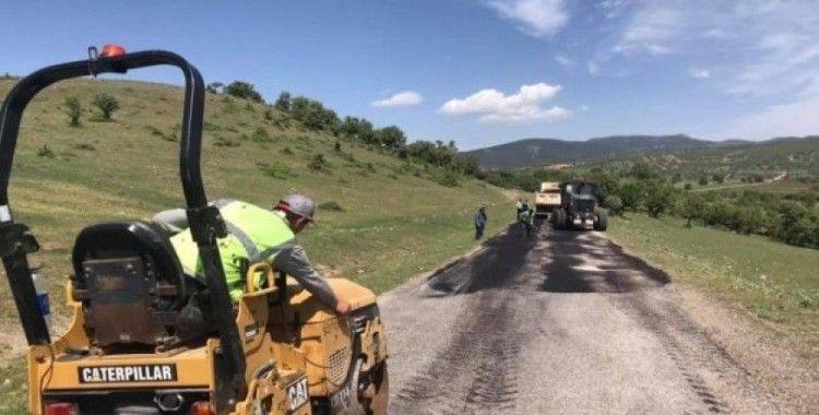 Şaphane'de köy yolu çalışmaları