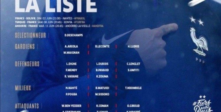Fransa'nın, Türkiye maçı kadrosu açıklandı