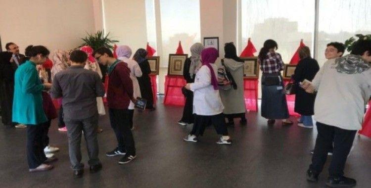 Türkiye'nin en genç müzehhibesi sergi açtı