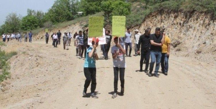 Köylülerden maden ocağı tepkisi
