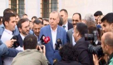 Erdoğan, bayram namazını Büyük Çamlıca Camisi'nde kıldı