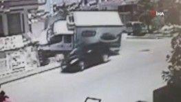Başkentte kan donduran kaza güvenlik kamerasında