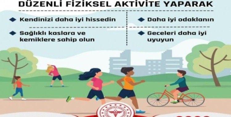 SGGM'den fiziksel aktivite mesajı