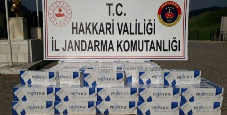 Yüksekova'da 2 bin paket kaçak sigara ele geçirildi