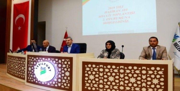 Yeşilyurt Belediye Meclisi, haziran çalışmalarını tamamladı