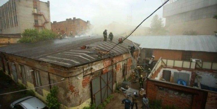 Rusya'da hayvan barınağında yangın çıktı