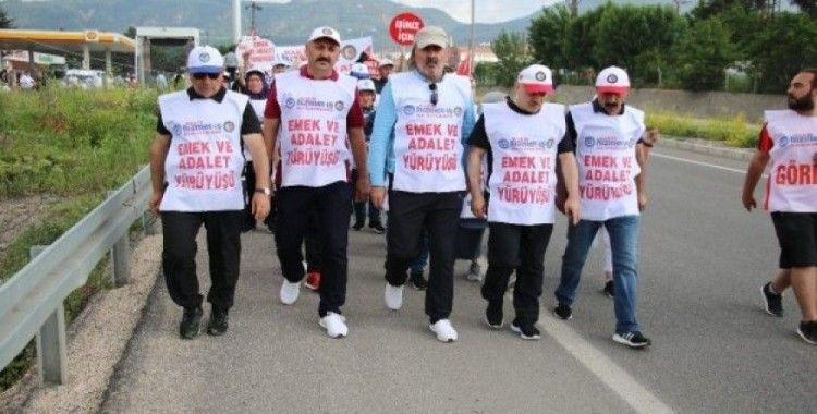 Hak - İş'in başlattığı  Emek ve Adalet Yürüyüşü dördüncü gününde