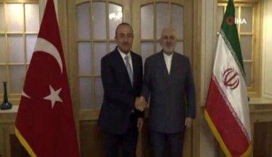 Bakan Çavuşoğlu, Cevad Zarif'le bir araya geldi