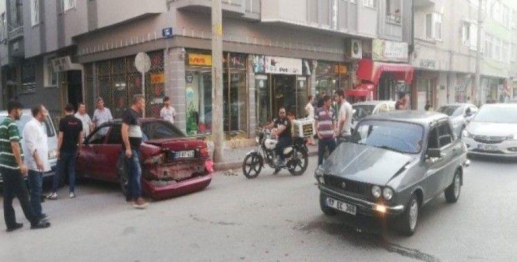Bafra'da zincirleme kaza: 1 yaralı
