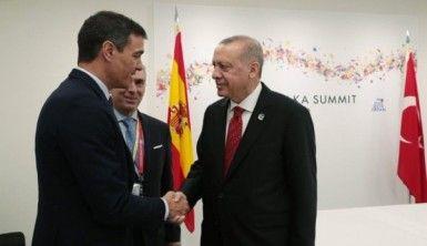 Cumhurbaşkanı Erdoğan, İspanya Başbakanı Sanchez ile bir araya geldi