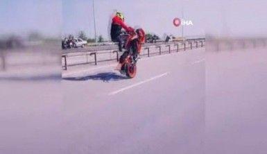 Motosikletli maganda trafikte terör estirdi