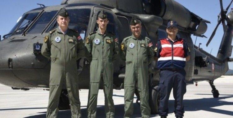 Helikopter destekli uygulamada 290 araç kontrol edildi
