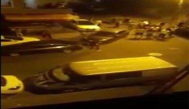 İstanbul'da silahlı çatışma kamerada