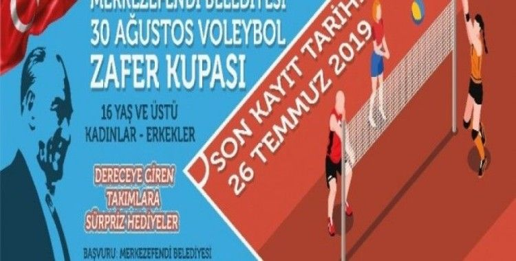 30 Ağustosta Voleybol Zafer Kupası turnuvası düzenlenecek