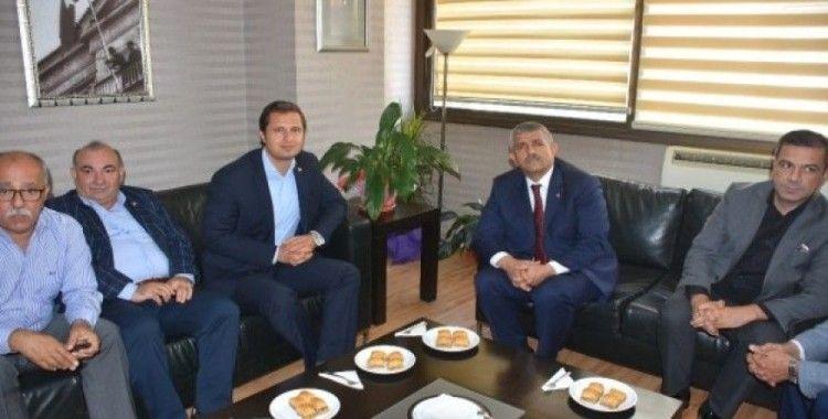 CHP İl Başkanı Yücel'den MHP'ye ziyaret